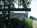 Sign to Hobground located at the end of the drive - geograph.org.uk - 204362.jpg