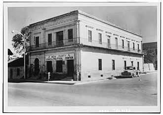 National Register of Historic Places listings in Starr County, Texas - Image: Silverio de la Pena Drugstore and Post Office, Rio Grande City, Texas