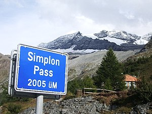 1985 Giro d'Italia - The Simplon Pass was the Cima Coppi for the 1985 running of the Giro d'Italia.