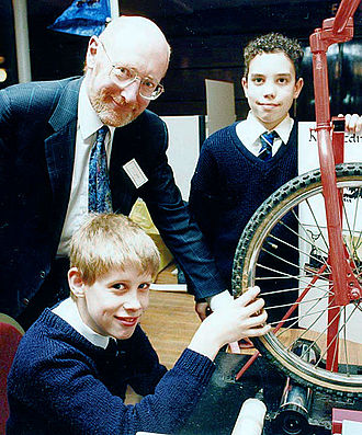 Clive Sinclair - Sinclair meeting young inventors in Bristol, England in 1992