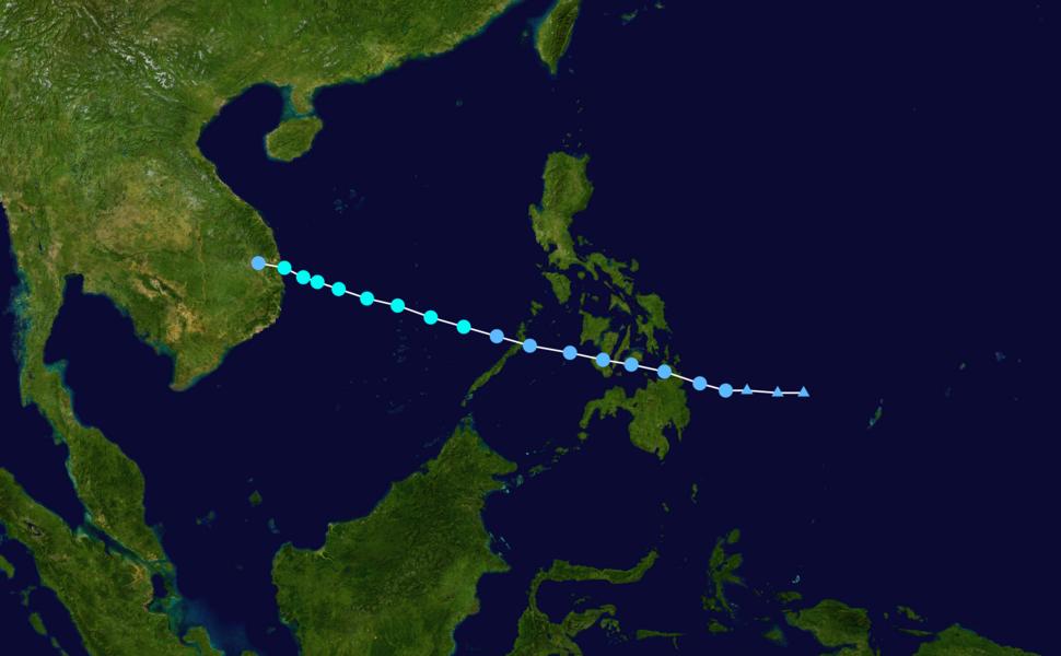 Sinlaku 2014 track