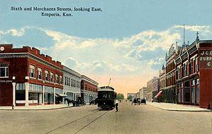 Emporia, Kansas - Sixth Avenue c. 1912