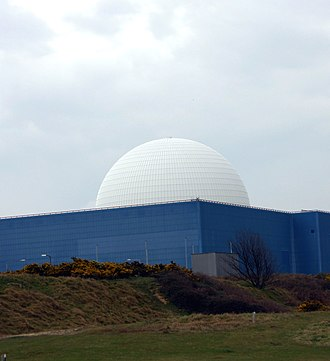 Nuclear power in the United Kingdom - The reactor dome of the Sizewell B power station