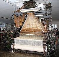 Sjöllingstad IMG 3286 Jacquard german 1939 Sachsische Webstuhlfabrik (Louis Schönherr) Chemnitz.JPG