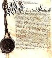 Skjøte på Reinskloster til Johannes von Marcellis (1675) (2746402241).jpg