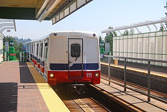 Urban Transportation Development Corporation - A driver-less Mark I operating on the Vancouver SkyTrain