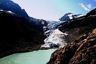 Trift Glacier - Trift Glacier viewing south.