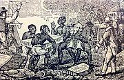 Slaves Unloading Ice in Cuba 1832