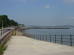 Slipway and breakwater from Egremont Promenade-by-Sue-Adair.jpg