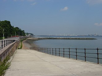 Egremont, Merseyside - Image: Slipway and breakwater from Egremont Promenade by Sue Adair