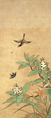 Small bird and loquats (Sounji Hakone).png