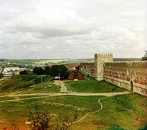 Kremlin (fortification) - A wall of Smolensk Kremlin in 1912