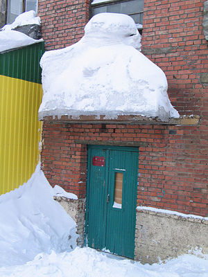 Norilsk - Considerable snow can accumulate