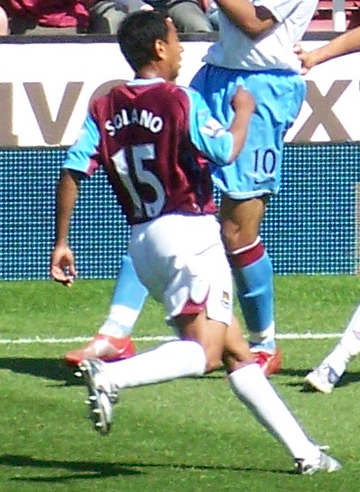 Solano à West Ham United, le 11 mai 2008.