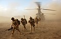 Soldiers from 3 Scots Deploy from a Chinook Helicopter in Afghanistan MOD 45151987.jpg
