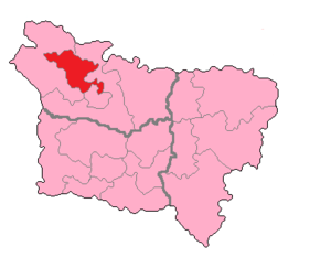 Somme's 1st constituency - Somme's 1st Constituency shown within Picardie.