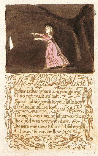 The Little Boy Lost - Image: Songs of Innocence, copy B, 1789 (Library of Congress) object 22 The Little Boy Lost