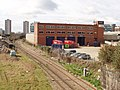 Sotheby's warehouse and London Overground railway - geograph.org.uk - 741572.jpg