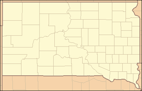 Винфред на мапи South Dakota