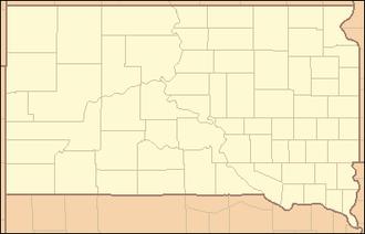 White River (Missouri River tributary) - Image: South Dakota Locator Map