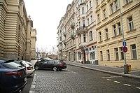 South view of Ibsenova street in Vinohrady, Prague.jpg