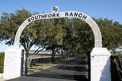 Southfork Ranch bejárata (Dallas, Texas)