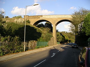 Felixstowe branch line - Spring Road Viaduct