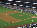 St. Louis Cardinals 0, Los Angeles Dodgers 0, Dodger Stadium, Los Angeles, California (14516551954).jpg