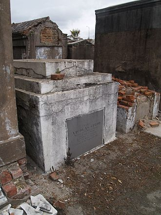 Nicholas Girod - Tomb of Nicolas Girod at Saint Louis Cemetery No. 2, New Orleans.
