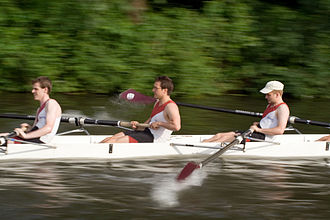 May Bumps 2006 - St Catharine's College Boat Club at full tilt.