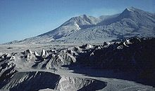 Photo du mont Saint Helens en septembre 1980.