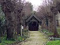 St Michael and All Angels Church, Stour Provost - Lych Gate - geograph.org.uk - 348541.jpg