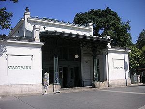 Stadtpark, Vienna - The U-Bahn station Stadtpark, designed by Otto Wagner