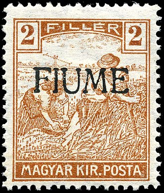 Postage stamps and postal history of Fiume - Hungarian stamp overprinted, 1918 Fake ovpt