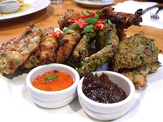 Jamaican cuisine - Stamp and Go and callaloo fritters