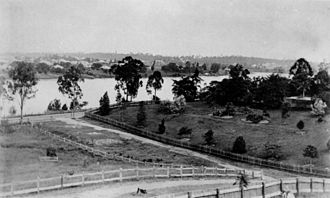 Auchenflower, Queensland - Looking southward across the Brisbane River from Auchenflower across Chasely Street to West End around 1910