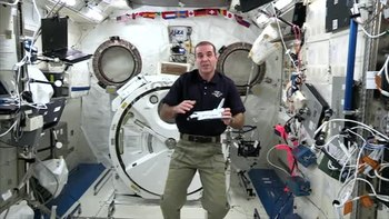 Fail:Station Astronauts Do Experiment for 'Cosmos'.webm