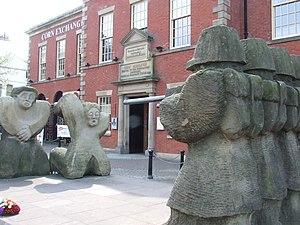 1842 General Strike - Statue commemorating the Plug Plot Riots in Preston