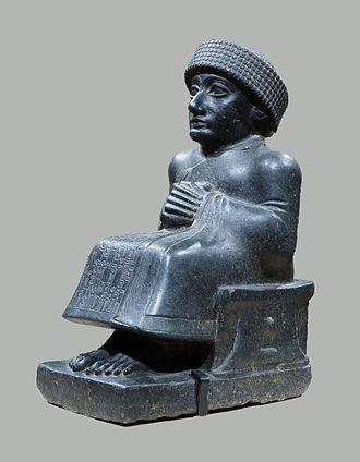Diorite - Image: Statue of Gudea MET 59.2
