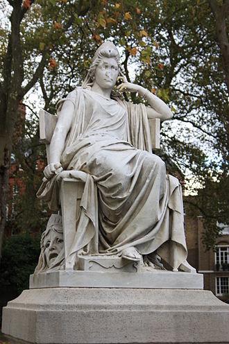 Sarah Siddons - Statue of Sarah Siddons by Leon-Joseph Chavalliaud, Paddington Green