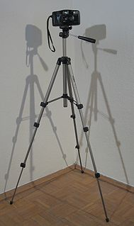 Tripod (photography) provides for the stable formation of cameras, lights, microphones, laboratory instruments or measuring instruments