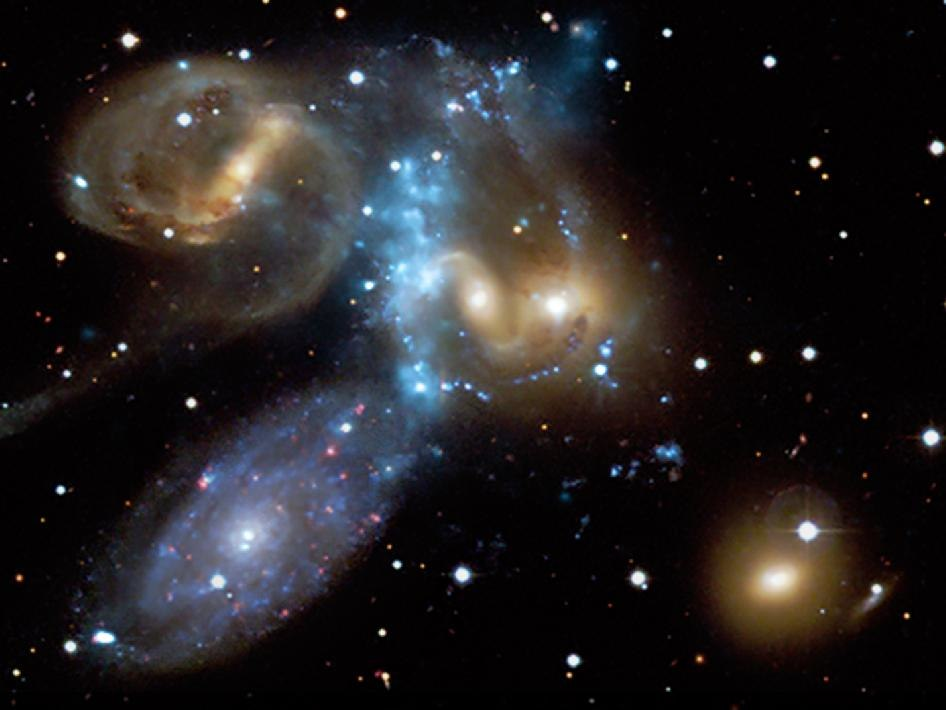 Stephan's Quintet X-ray + Optical