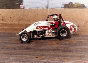 Steve Butler - Butler and Ol' Whitey ride Eldora's cushion to their first USAC championship.
