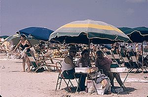 STEWART BEACH, ON THE EASTERN END OF GALVESTON...