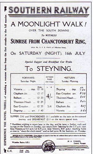 Steyning Line - A summer excursion to the Chanctonbury Ring in the 1930s