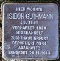 Stolperstein Arnstadt Untergasse 4-Isidor Guthmann.JPG