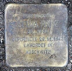 Photo of Selma Prinz brass plaque