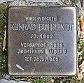 Stolperstein Hussitenstr 7 (Gesbr) Konrad Behrendt.jpg