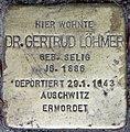 Stolperstein Stierstr 19 (Fried) Gertrud Löhmer.jpg