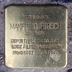 Photo of Manfred Hirsch brass plaque